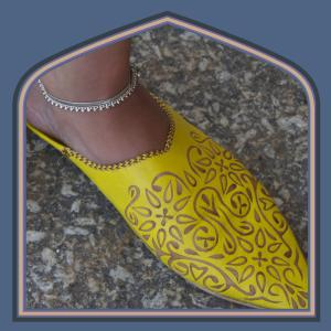Leather moroc slippers